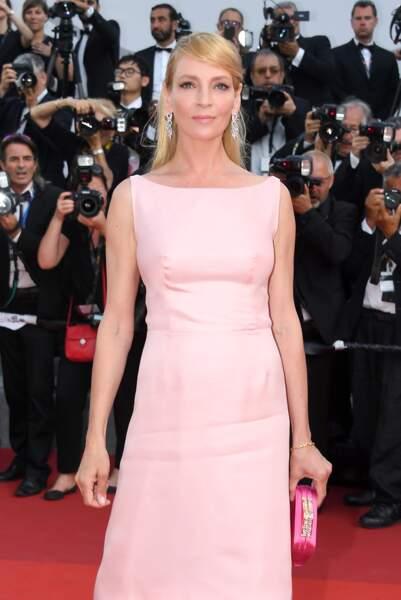 Cannes - Montée des Marches pour le 70ème anniversaire : Uma Thurman