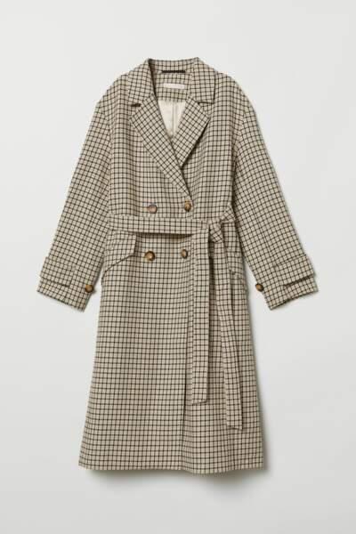 Manteau à double boutonnage, H&M, 99€