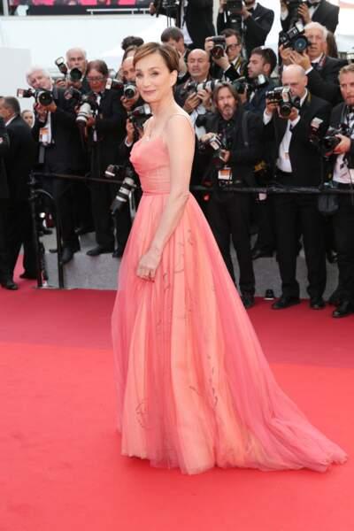Cannes - Montée des Marches pour le 70ème anniversaire : Kristin Scott Thomas