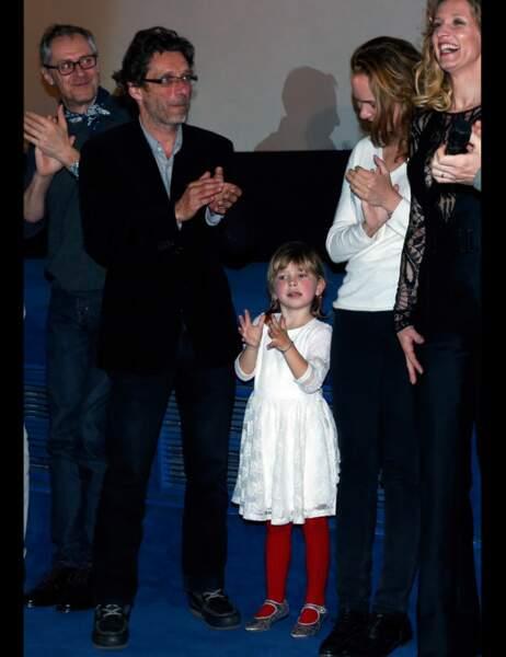 Nils Tavernier en famille avec sa femme et sa fille