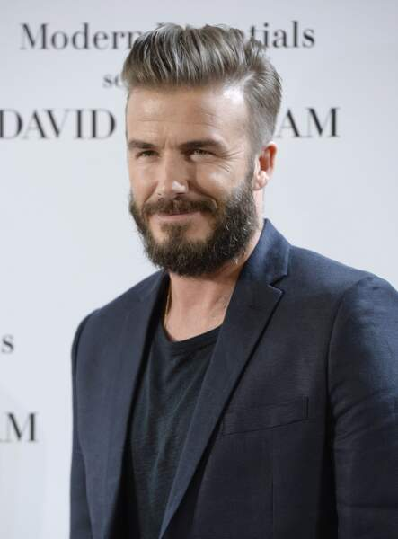 David Beckham avec une barbe : ok, d'accord.