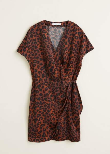 Robe imprimée léopard, Mango, 49,99€