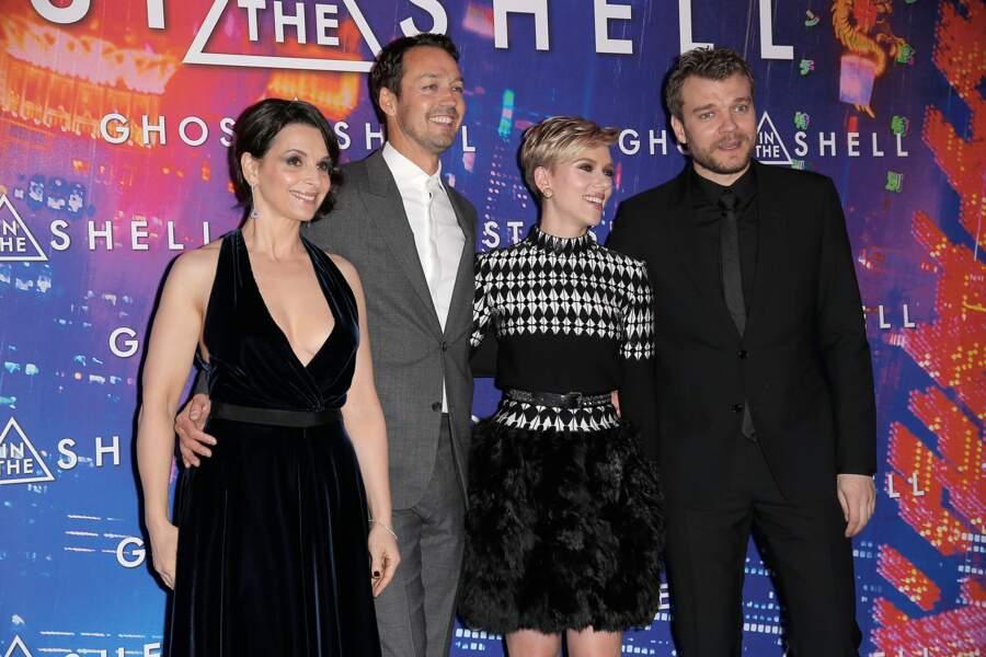 Avant-première de Ghost in the Shell : Juliette Bincoche, Rupert Sanders, Scarlett Johansson et Pilou Asbaek