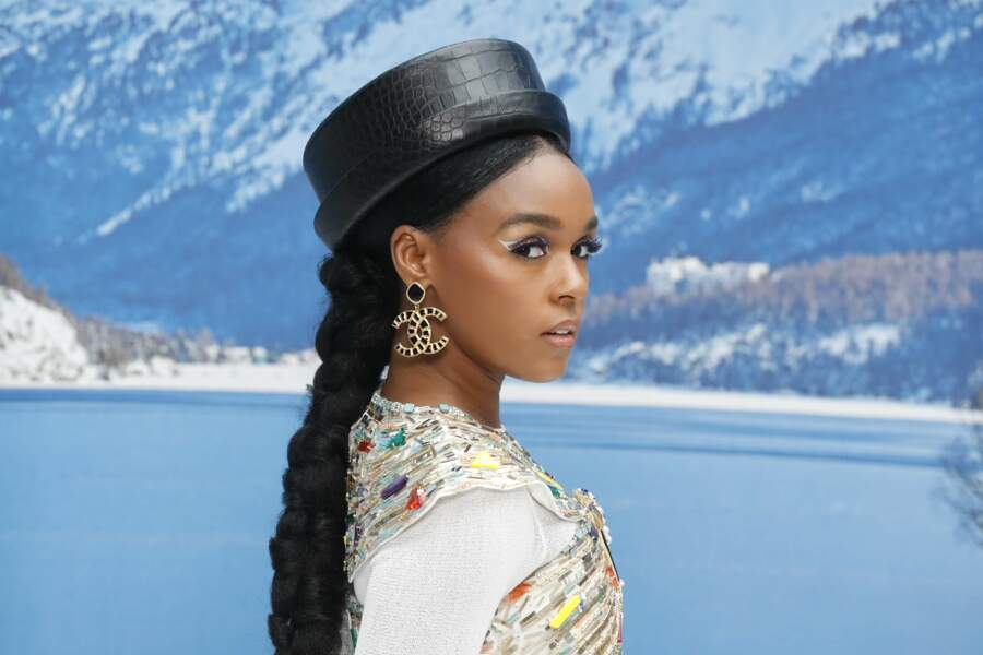 Janaelle Monae au défilé Chanel automne-hiver 2019-2020 pour un dernier hommage à Karl Lagerfeld