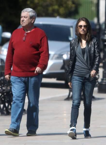 Mila Kunis et son papa