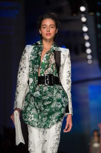Jenaye Noah était sublime dans sa tenue printemps-été 2017 par Gaultier