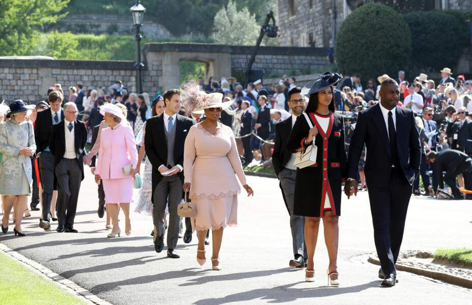 Oprah Winfrey, Idris Elba et sa compagne Sabrina Dhowre