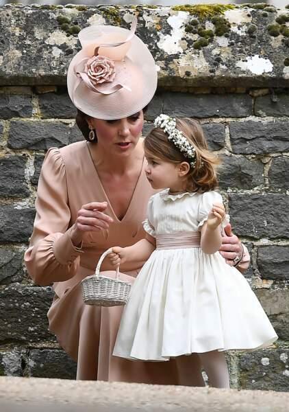 Kate Middleton et sa fille la princesse Charlotte