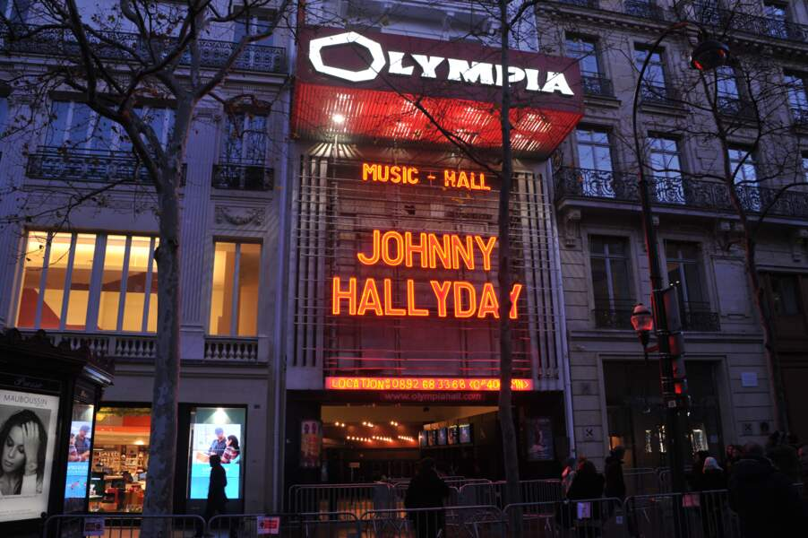 L'Olympia rend hommage à Johnny Hallyday