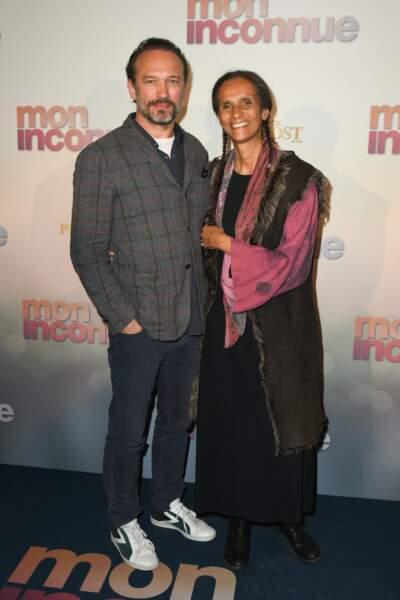 Vincent Perez et sa femme Karine Silla à l'avant-première de Mon Inconnue, le 1er avril, à Paris