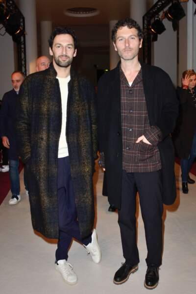 Fashion week automne-hiver 2017 - Défilé Alexis Mabille : Olivier Coursier et Simon Buret du groupe Aaron