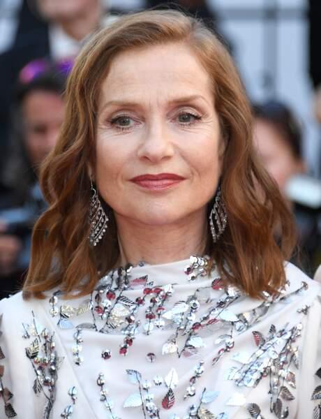 Cannes - Montée des Marches pour le 70ème anniversaire : Isabelle Huppert