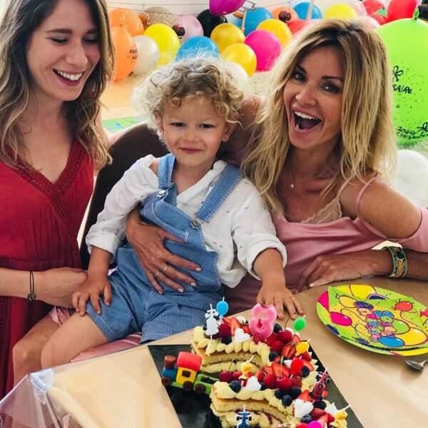 Ingrid Chauvin a invité la nounou de son fils, Mélinda, pour cette fête surprise