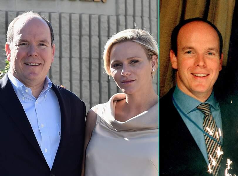 Albert de Monaco aujourd'hui à 57 ans et à 38 ans, l'âge actuel de sa femme Charlène