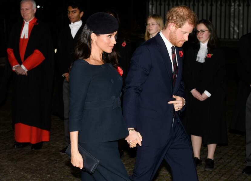 Les jeunes mariés, Meghan Markle et le prince Harry, à Londres le 11 novembre 2018