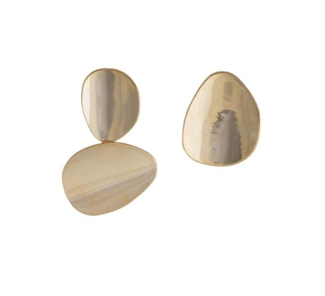 Saint-Valentin : Miro disc gold earrings, Wanderlust and co, 20,35 euros
