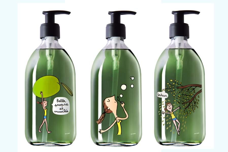 Savons pour les mains à l'huile d'olive extra vierge, flacon 500 ml, 25 €, Une Olive en Provence