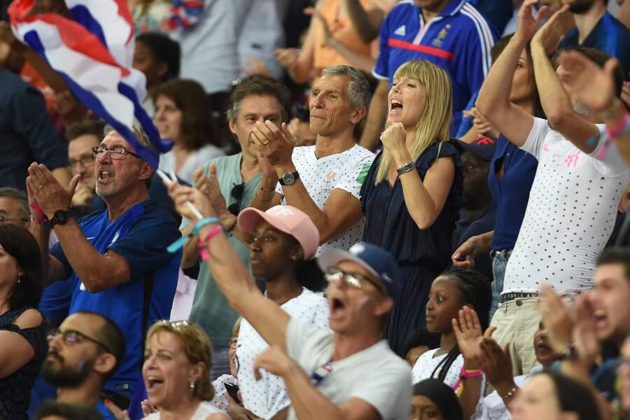 Les deux amoureux complices encouragent les Bleues pour la qualification pour les demi-finales de la Coupe du monde