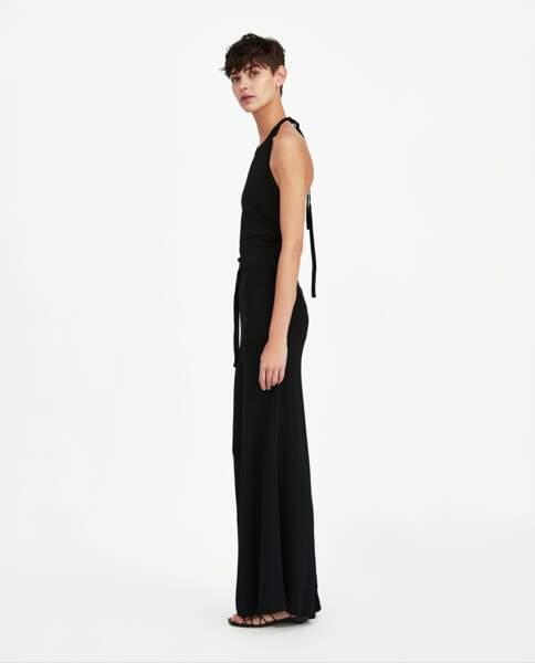 Pantalon large noir minimal collection, Zara, 49,95 euros
