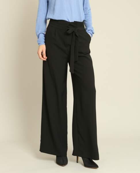 Pantalon large noir, Pimkie, 35,99 euros