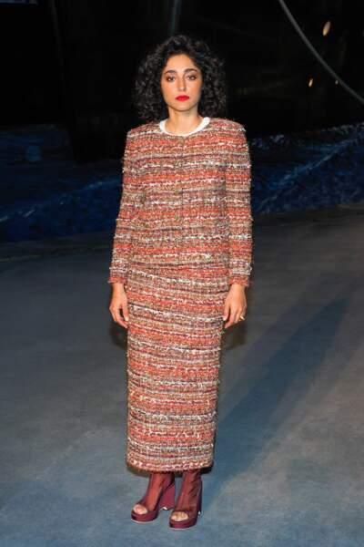 Golshifteh Farahani au défilé Chanel croisière 2018, le 3 mai au Grand Palais