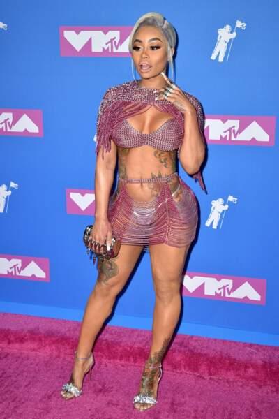 Blac Chyna aux MTV Video Music Awards 2018, le 20 août, à New York