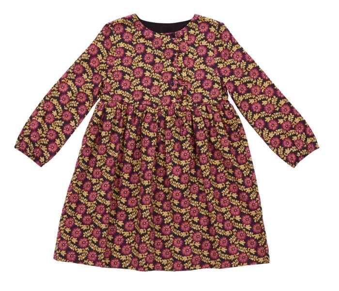 Robe imprimé fleurie. En sergé de coton, du 2 au 12 ans, 19,99 €, Du Pareil au Même