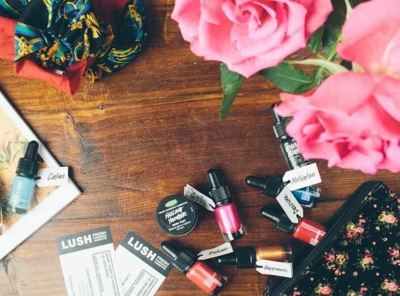 Lush maquillage pigments