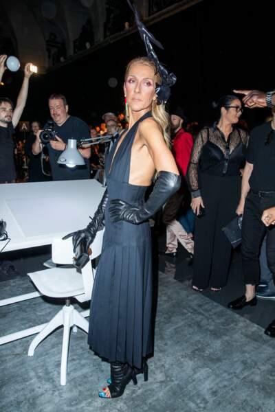 Céline Dion au défilé haute couture Schiaparelli à Paris, lundi 1er juillet