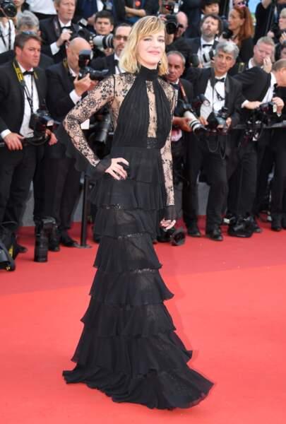 Cannes - Montée des Marches pour le 70ème anniversaire : Celine Sallette