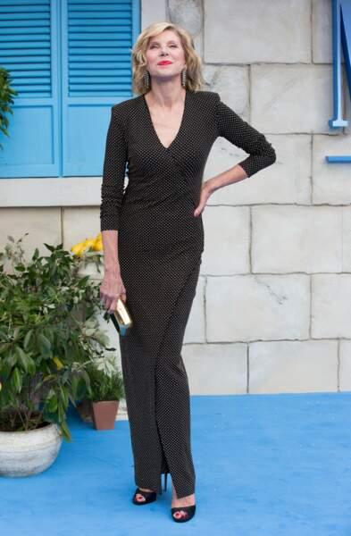 Christine Baranski à l'avant-première de Mamma Mia 2 à Londres, le 16 juillet