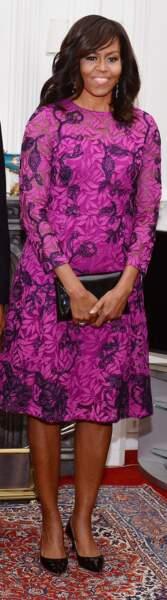 Michelle Obama en Oscar de la Renta