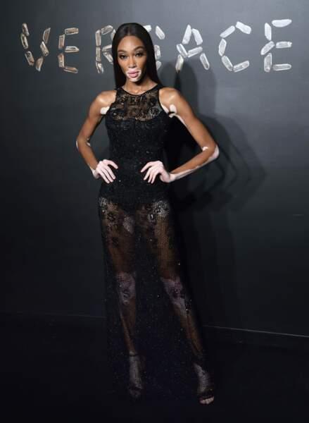 Winnie Harlow au défilé Versace, le 2 décembre 2018, à New York