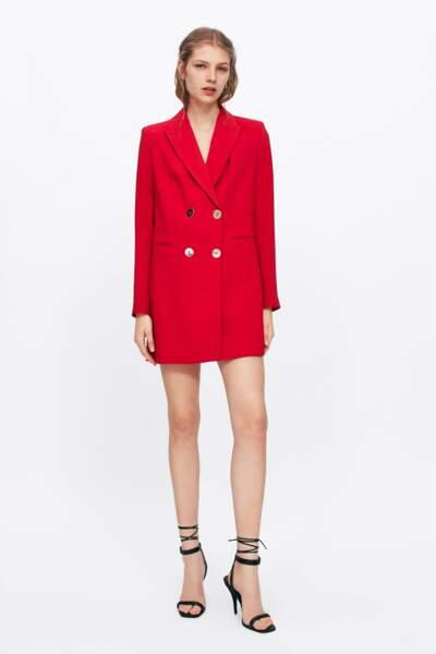 Veste longue, Zara, 59,95€
