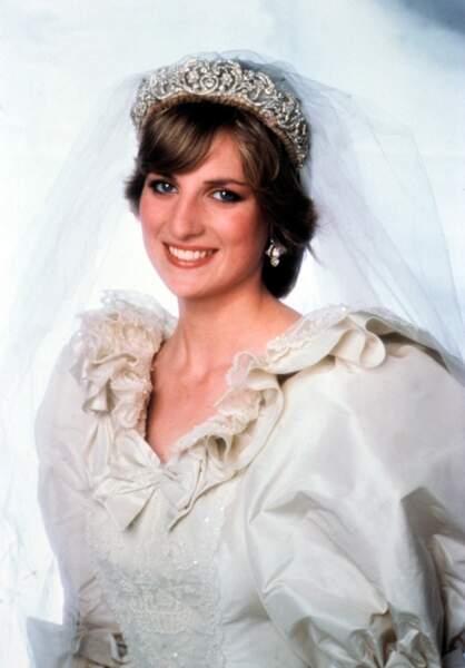 La tiare portée par Lady Di lors de son mariage avec le prince Charles