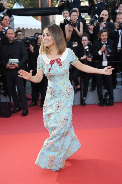 Cannes - Montée des Marches pour le 70ème anniversaire : Salma Hayek
