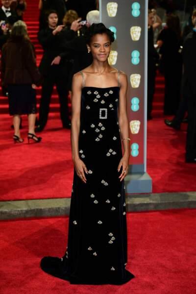 Letitia Wright aux BAFTA Film Awards 2018 à Londres, le 18 février