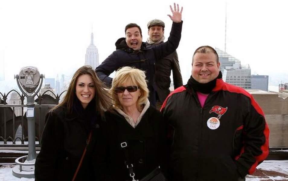 Jimmy Fallon et Jon Hamm (Mad Men) se sont incrustés sur les photos des touristes du Rockefeller Center