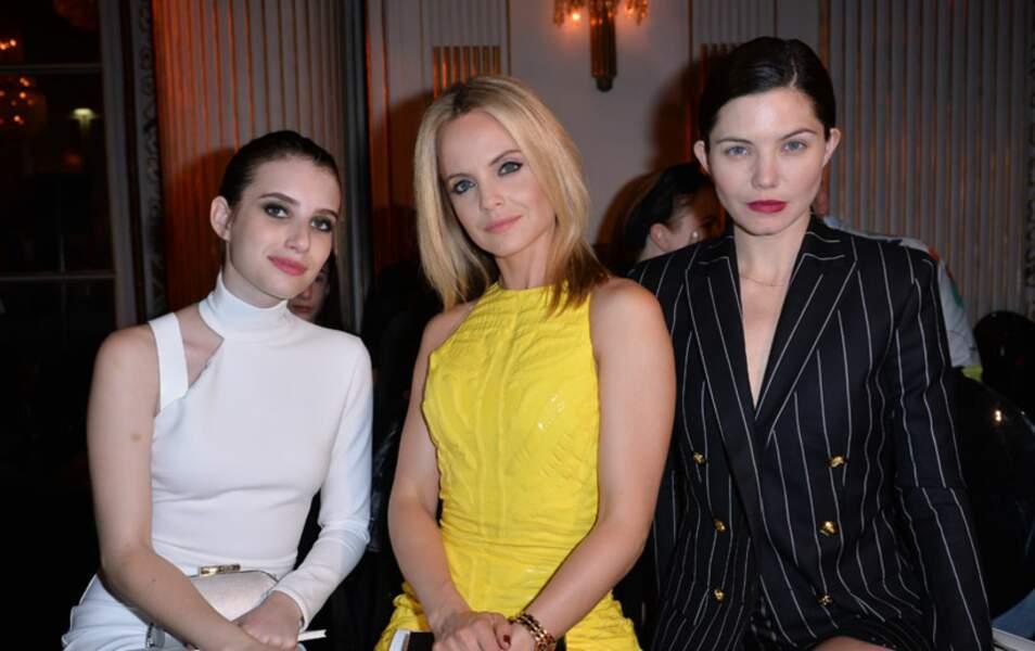Emma Roberts, Mena Suvari et Delphine Chanéac