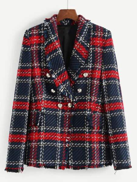 Blazer en tweed, Shein, 38€