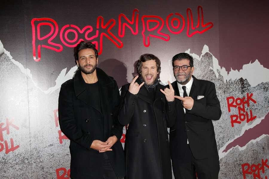 Avant-première de Rock'n Roll : Maxim Nucci, Guillaume Canet et son producteur Alain Attal