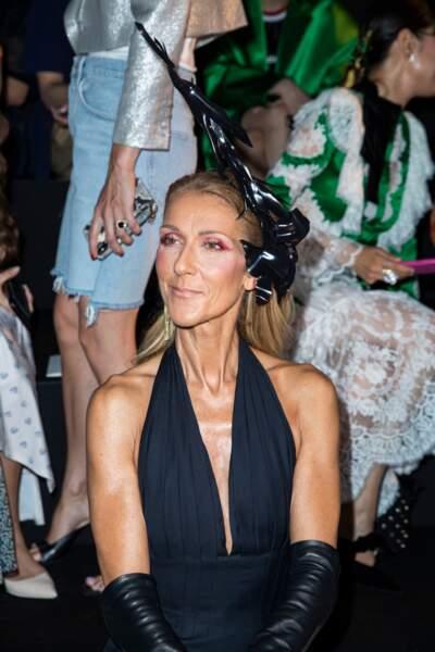 Céline Dion au défilé haute couture Schiaparelli à Paris