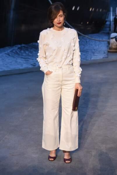 Anne Brest au défilé Chanel croisière 2018, le 3 mai au Grand Palais