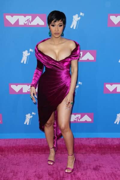 Cardi B aux MTV Video Music Awards 2018, le 20 août, à New York