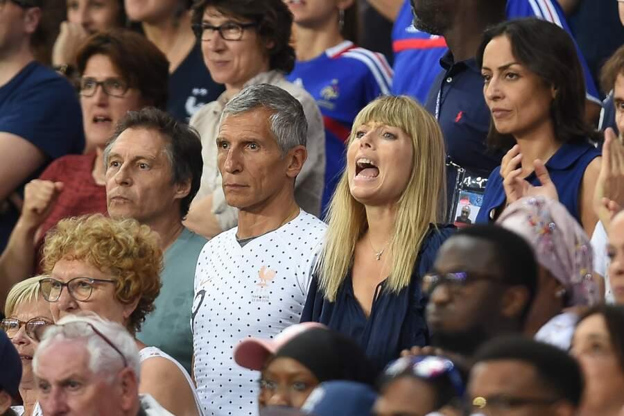 Nagui et Mélanie Page dépités par l'élimination des Bleues en quart de finale de la Coupe du monde