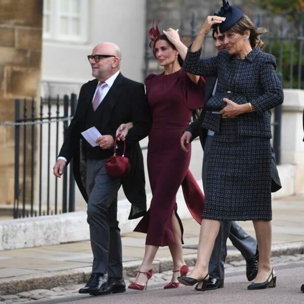 Demi Moore au mariage de la princesse Eugenie et Jack Brooksbank