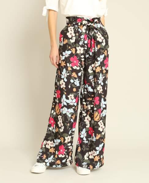Pantalon large fleuri, Pimkie, 39,99 euros
