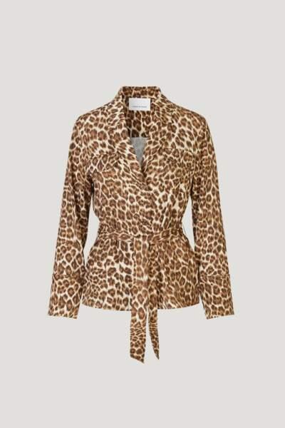 Veste ceinturée léopard, Samsoe et Samsoe, 149€