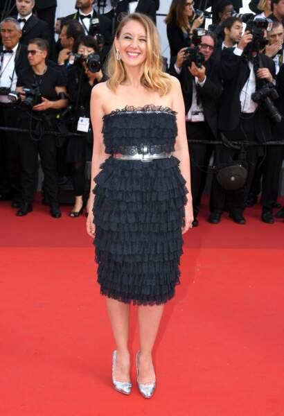 Cannes - Montée des Marches pour le 70ème anniversaire : Ludivine Sagnier