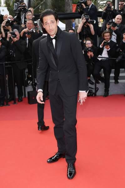 Cannes - Montée des Marches pour le 70ème anniversaire : Adrien Brody